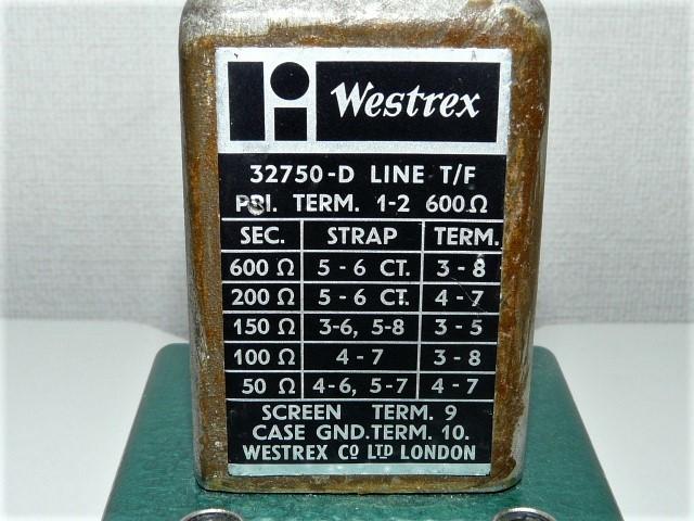 ◆英国 WESTREX ウェストレックス  32750-D 昇圧トランス 動作品 1台_画像4