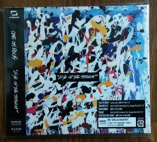 ONE OK ROCK ★ EYE OF THE STORM【初回限定盤】 ★ CD+DVD+先着特典のステッカー ★ 新品同様