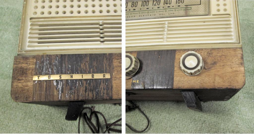A 真空管ラジオ シャーシ等一式 TOSHIBA MT管 受信確認出来ません ジャンク_画像4