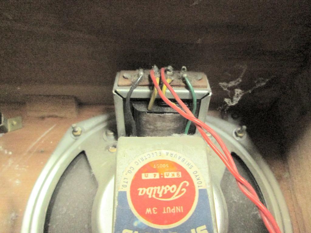A 真空管ラジオ シャーシ等一式 TOSHIBA MT管 受信確認出来ません ジャンク_画像7