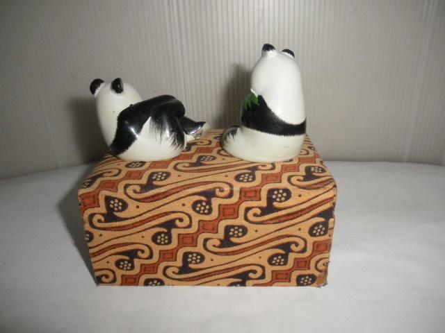 @@@ 中国パンダ パンダ 可愛いパンダ インテリア 雑貨 癒しの飾り物 レトロ調 陶器 小物 置物 人形 定形外500円_画像4