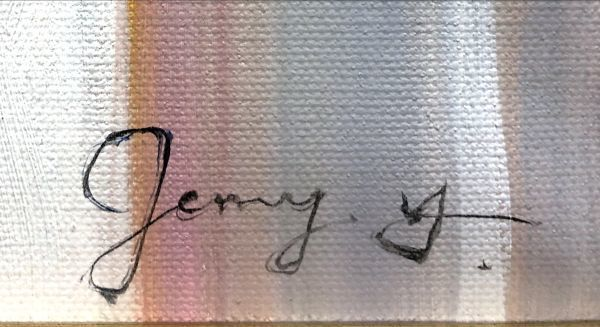 油絵 人物画『光』Jenny.Y作 肉筆 女性 ヌード 裸婦 セクシー 美女 モデル J12-2-AR1642_画像5