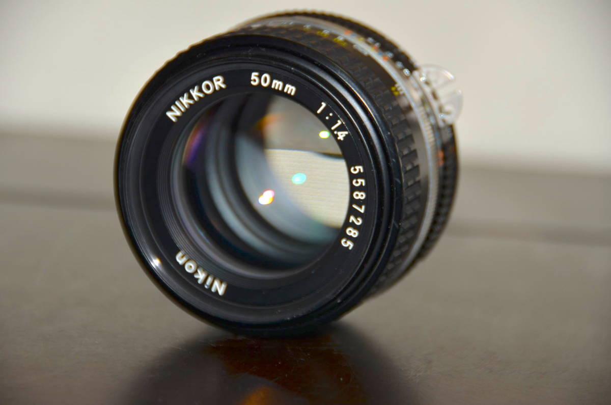 Nikon FA ニコン フィルムカメラ ブラック Nikkor 50mm f1.4 Ai-S レンズ National PE-200 S ストロボ ケース ストラップ 付き_画像10