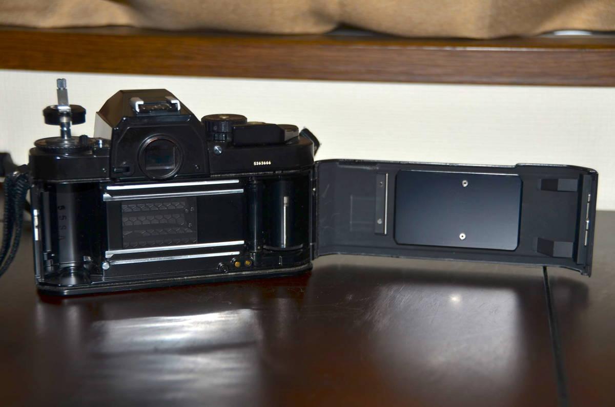 Nikon FA ニコン フィルムカメラ ブラック Nikkor 50mm f1.4 Ai-S レンズ National PE-200 S ストロボ ケース ストラップ 付き_画像7