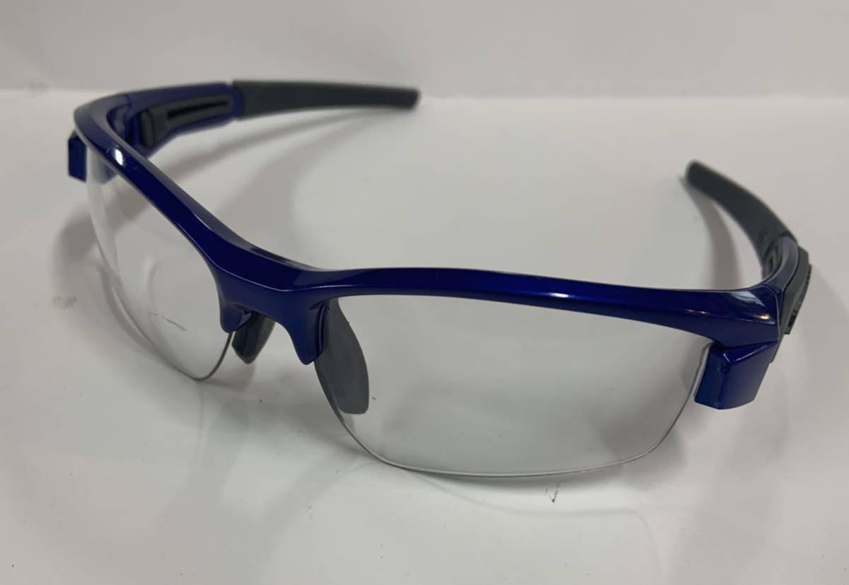 送料無料スワンズSWANSサングラスLIONハイカーブ格安スポーツ良品eyewearアイウェア眼鏡フレーム青ブルーusedゴルフ日本製レジャー自転車