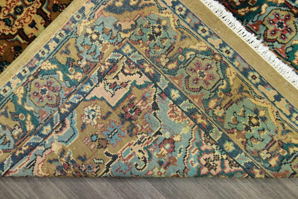 高級ラグ パキスタン オールド手織り絨毯 カシミリアンブランド ペルシャデザイン 玄関マット 80x145cm/GH222_画像5