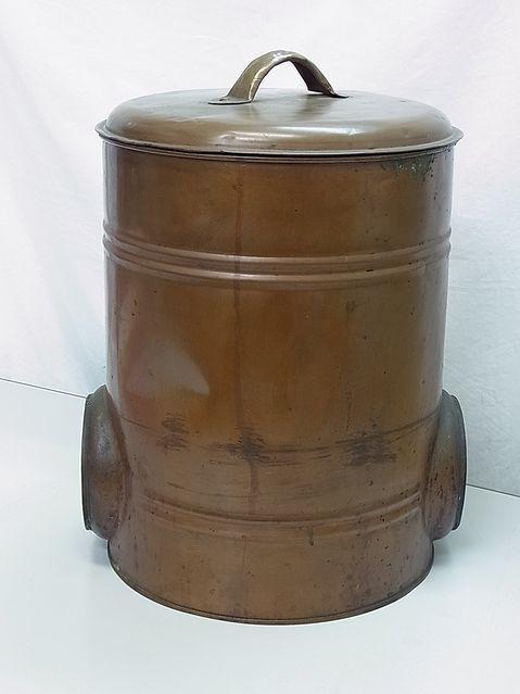 【え269】銅製 風呂釜 湯沸 ボイラー 昭和 レトロ 煙突 風呂 暖房 古民具 石炭 薪