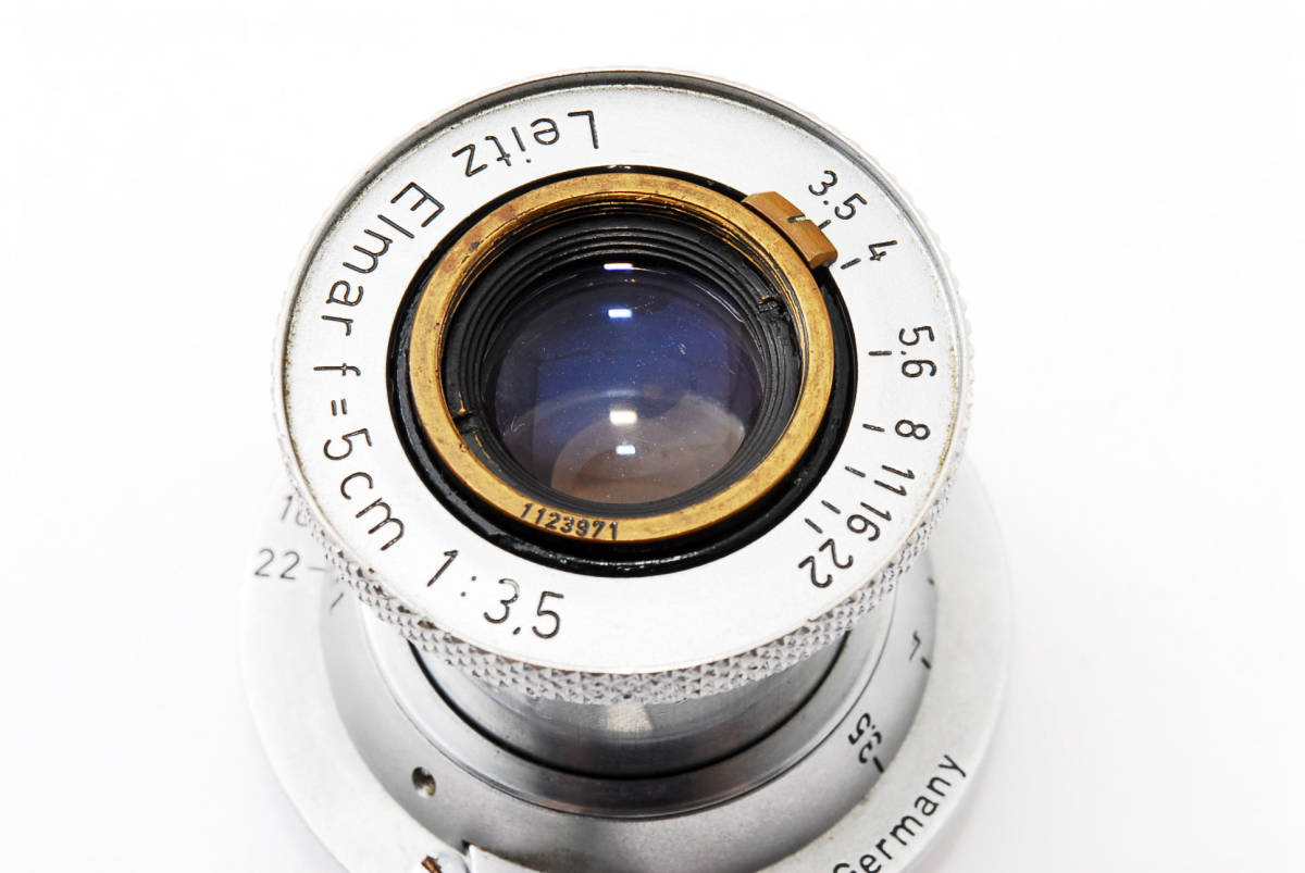 超希少 美品 ライカ ライツ 赤エルマー 50mm F3.5 Lマウント 沈胴 Leica Leitz Red Scale Elmar 5cm F3.5 L Mount  #62
