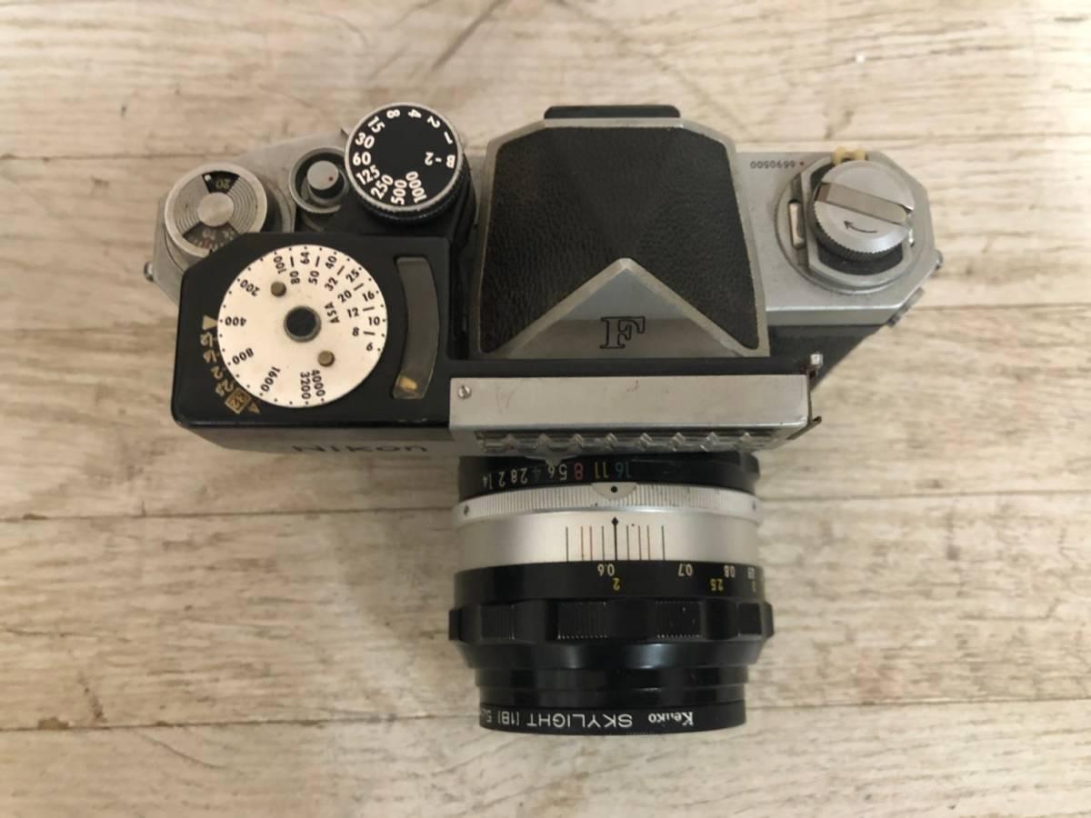 M978 ⑧ Nikon フィルム一眼レフカメラ F レンズNIKKOR-S・C Auto1:1.4F=50㎜ 動作保証無し 現状品_画像3