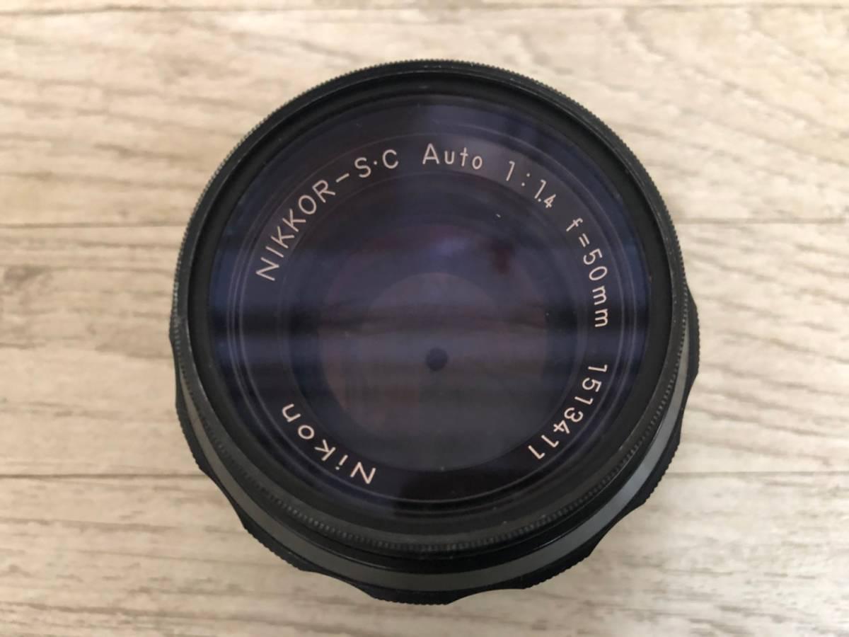 M978 ⑧ Nikon フィルム一眼レフカメラ F レンズNIKKOR-S・C Auto1:1.4F=50㎜ 動作保証無し 現状品_画像8