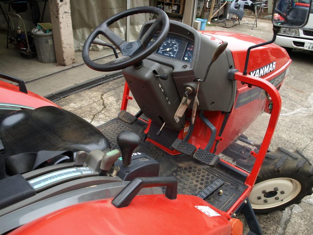 ヤンマー トラクター AF230 22馬力 4WD 深浅回動ローターリー 1181時間_画像5