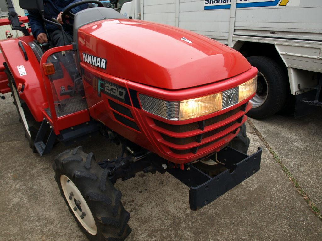 ヤンマー トラクター AF230 22馬力 4WD 深浅回動ローターリー 1181時間_画像9