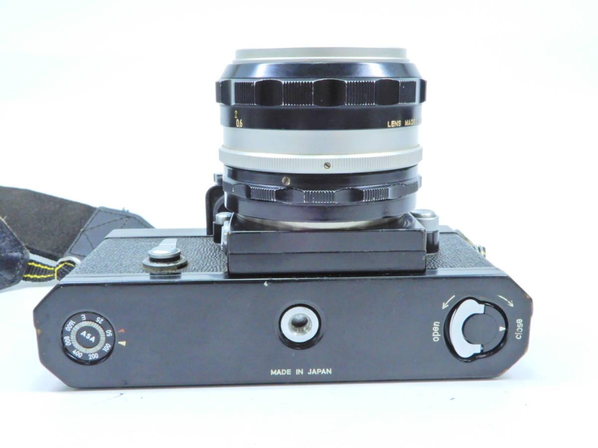 NIKON ニコン F フォトミック レンズ NIKKOR-S AUTO 50mm 1:1.4 シャッター確認済み 一眼レフカメラ ブラックボディ マニュアルフォーカス_画像4