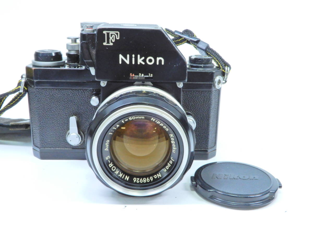 NIKON ニコン F フォトミック レンズ NIKKOR-S AUTO 50mm 1:1.4 シャッター確認済み 一眼レフカメラ ブラックボディ マニュアルフォーカス