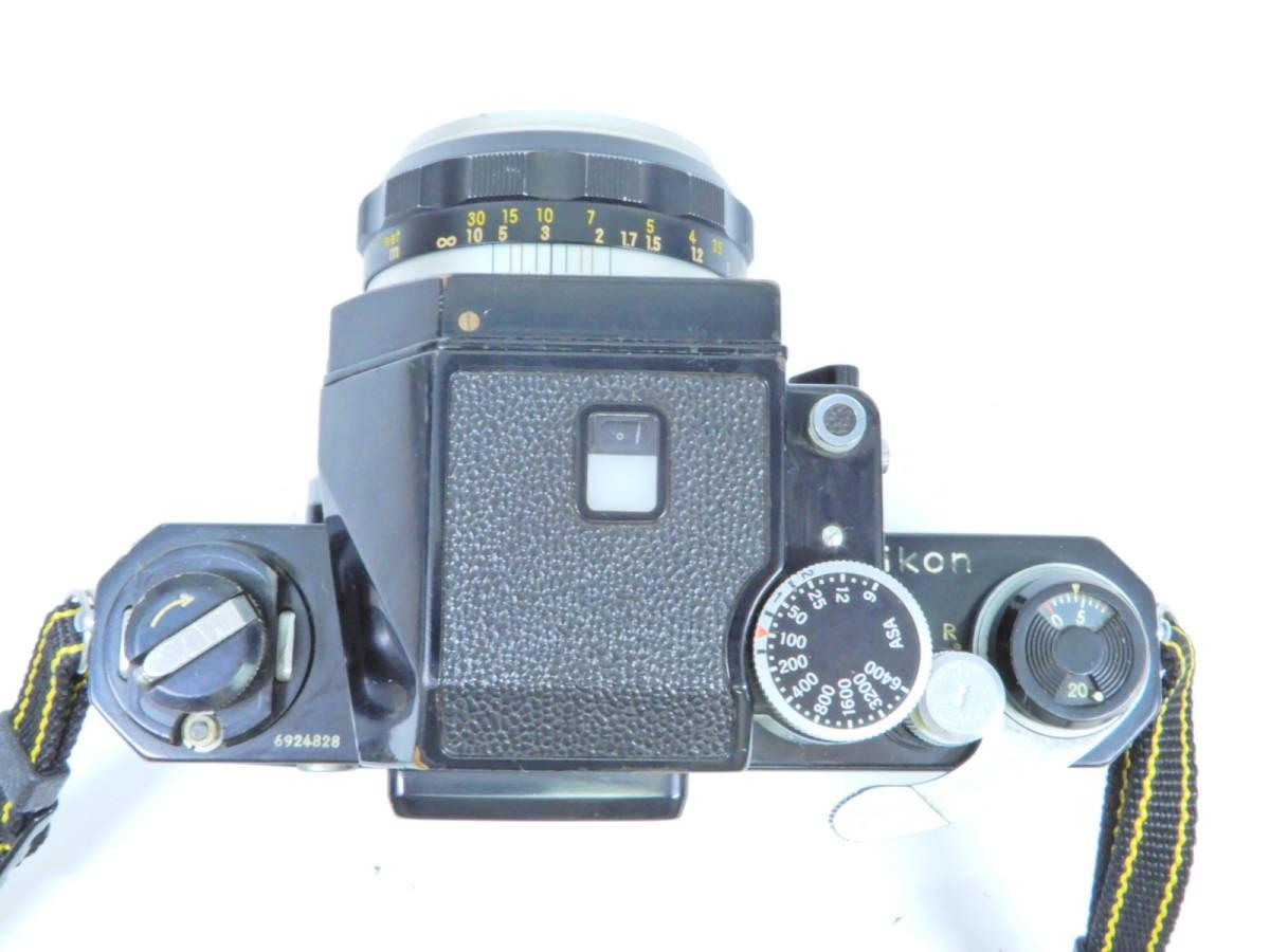 NIKON ニコン F フォトミック レンズ NIKKOR-S AUTO 50mm 1:1.4 シャッター確認済み 一眼レフカメラ ブラックボディ マニュアルフォーカス_画像3