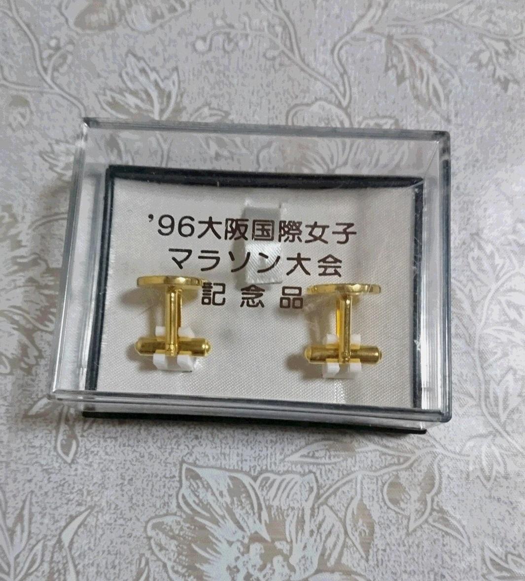 レア 大阪国際女子 マラソン 1996年 大会 記念品 ネクタイピン タイピン カフス 未使用 2m5_画像1