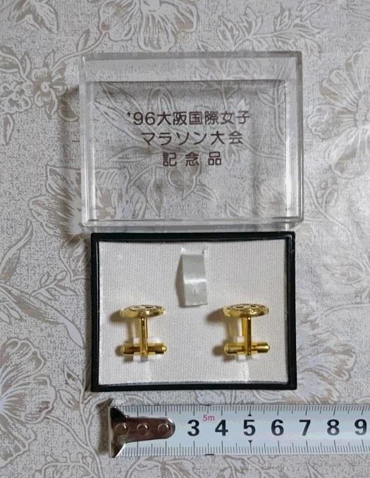 レア 大阪国際女子 マラソン 1996年 大会 記念品 ネクタイピン タイピン カフス 未使用 2m5_画像4
