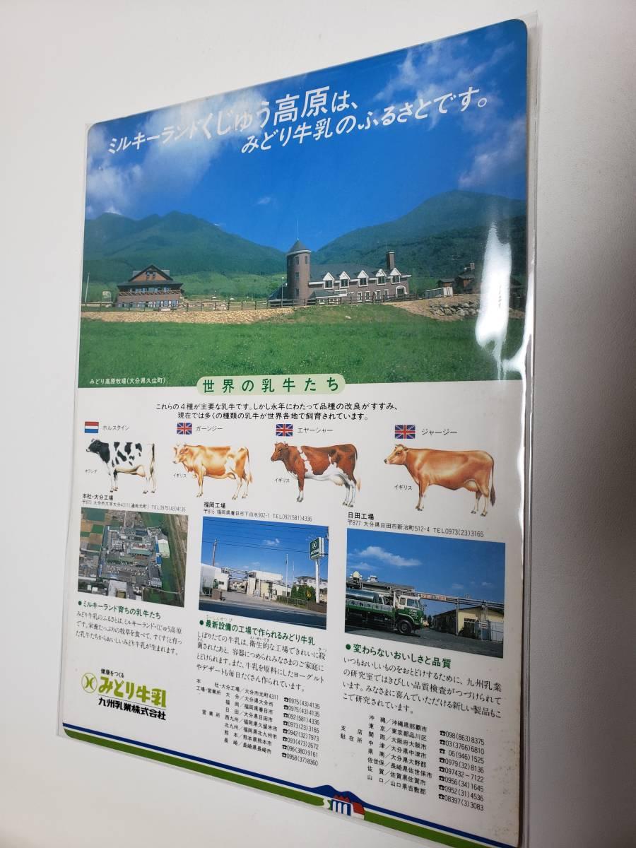 九州 みどり牛乳 下敷き_画像1