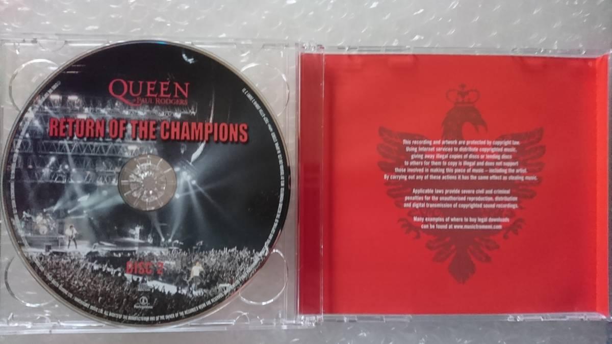 【2枚組/帯付国内盤】QUEEN+PAUL RODGERS/クイーン&ポール・ロジャース『RETURN OF THE CHANPIONS/リターン・オブ・ザ・チャンピオンズ』_画像4