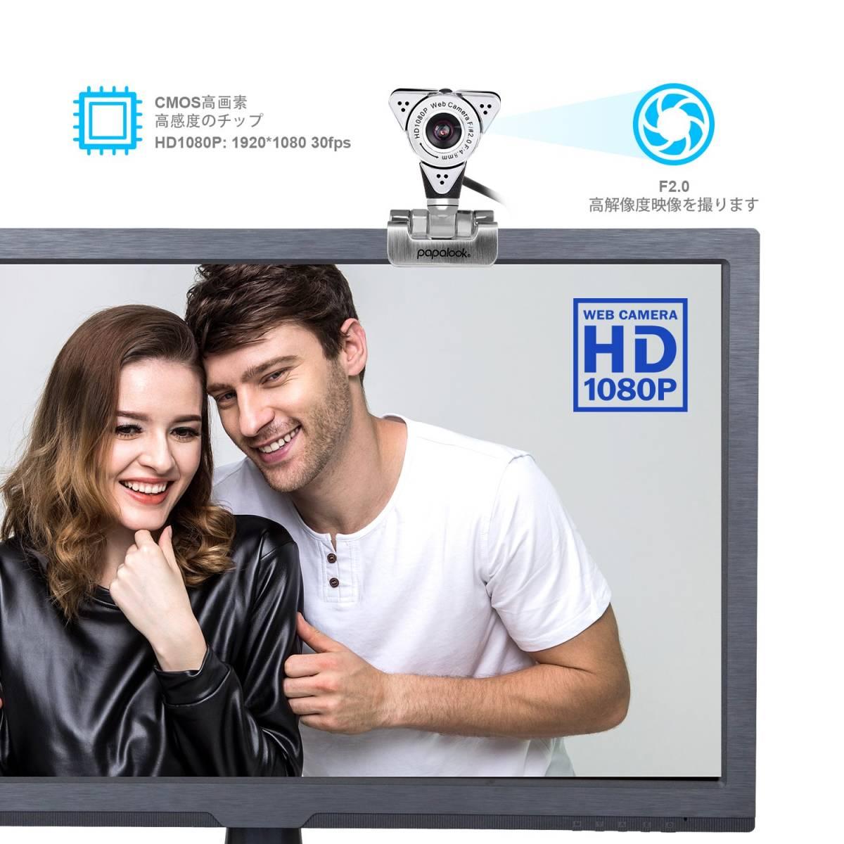 新品●PAPALOOK PA187 ウェブカメラ web カメラ Webカム HD画質 ネットワークカメラ C6480_画像9