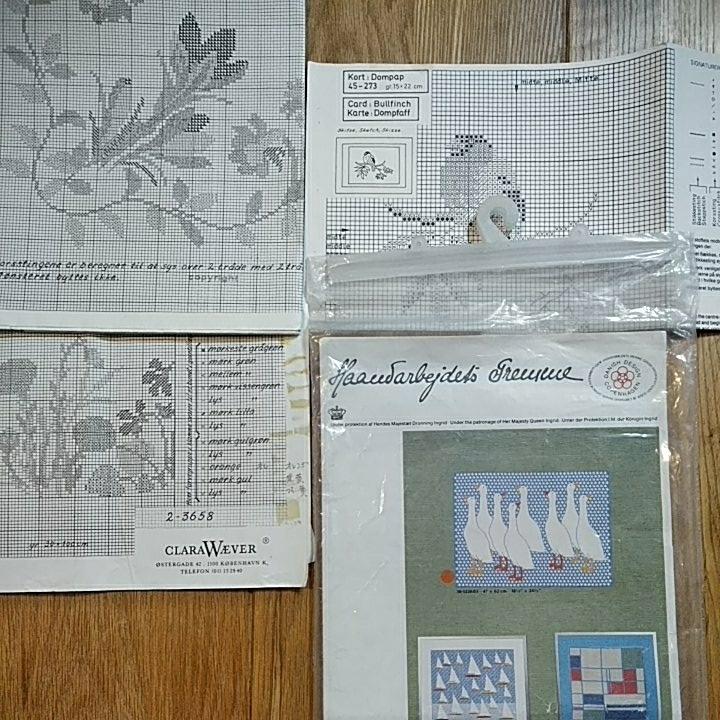 クロスステッチチャート フレメ eva rosenstand clara waever 北欧刺繍 図案4点