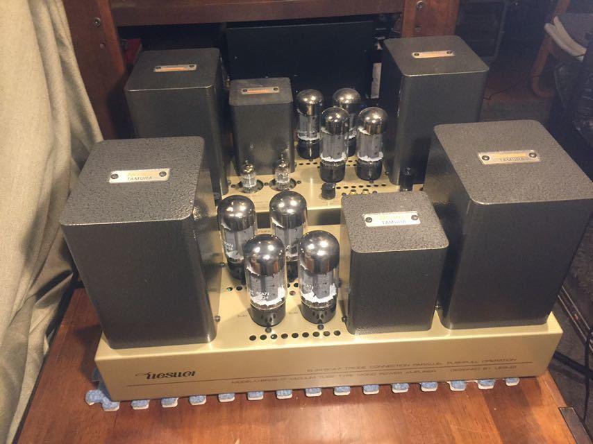 UESUGI真空管パワーアンプ、上杉研究所U・BROS-17ペア 動作品、販売時定価\760.000 U・BROS-11の後継機。