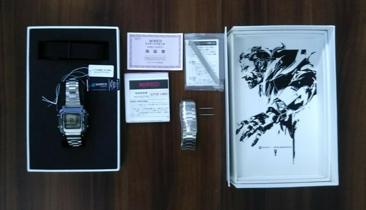 ワイアード デジボーグ 腕時計 WIRED ×METAL GEAR SOLID V:THE PHANTOM PAIN メタルギアソリッド コラボレーションウオッチ中古品 _画像1