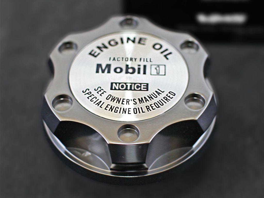 米VMS アルミ製オイルキャップ アルファード ヴェルファイア 10 20系 ガンメタ T2_高級感のあるアルミニウム製ロゴ