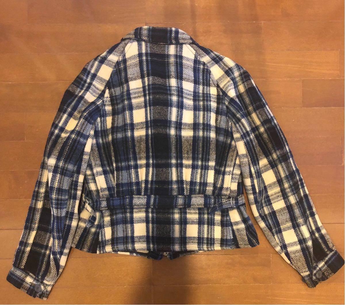 30's ヴィンテージ スポーツジャケット Gordon コの字 ハトメ TALON チェック ウール レディース 30年代 / 40年代 40's_画像8