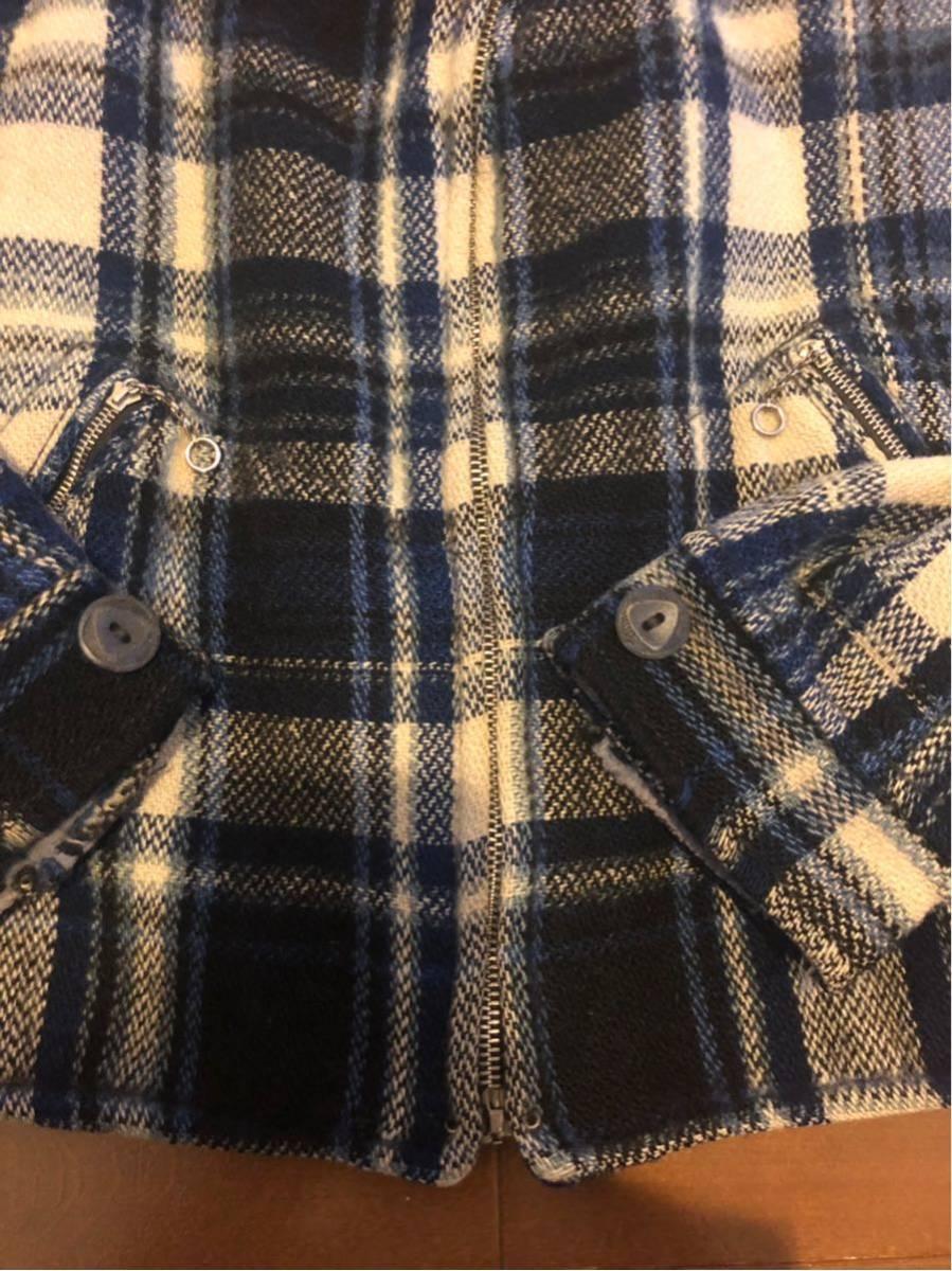 30's ヴィンテージ スポーツジャケット Gordon コの字 ハトメ TALON チェック ウール レディース 30年代 / 40年代 40's_画像5