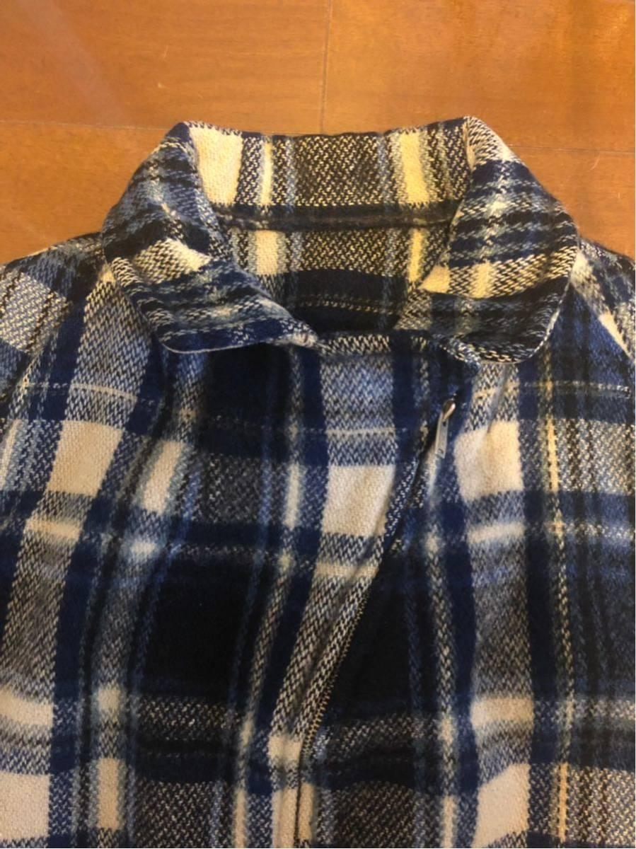 30's ヴィンテージ スポーツジャケット Gordon コの字 ハトメ TALON チェック ウール レディース 30年代 / 40年代 40's_画像4