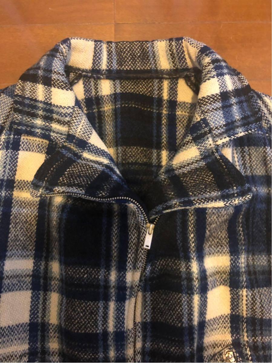 30's ヴィンテージ スポーツジャケット Gordon コの字 ハトメ TALON チェック ウール レディース 30年代 / 40年代 40's_画像2