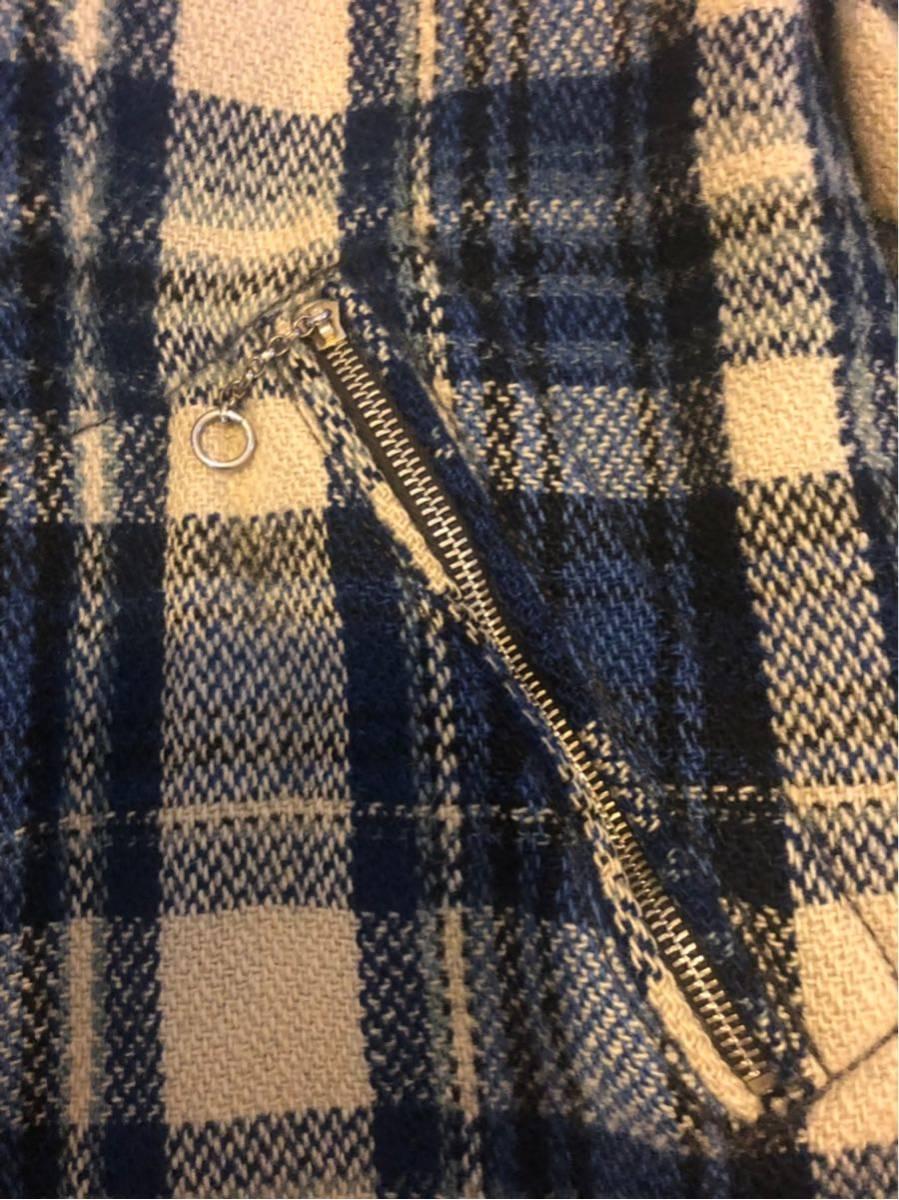 30's ヴィンテージ スポーツジャケット Gordon コの字 ハトメ TALON チェック ウール レディース 30年代 / 40年代 40's_画像7