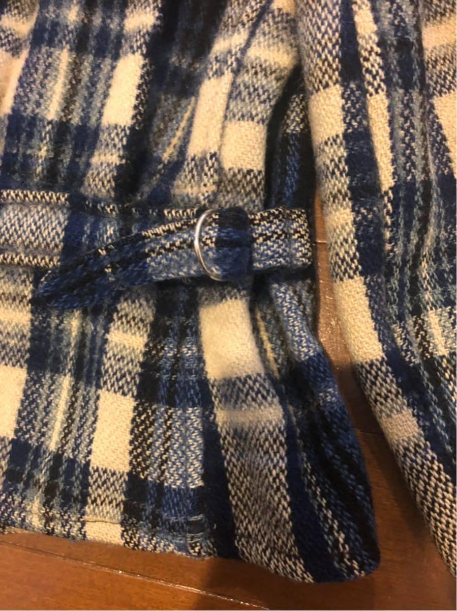 30's ヴィンテージ スポーツジャケット Gordon コの字 ハトメ TALON チェック ウール レディース 30年代 / 40年代 40's_画像9