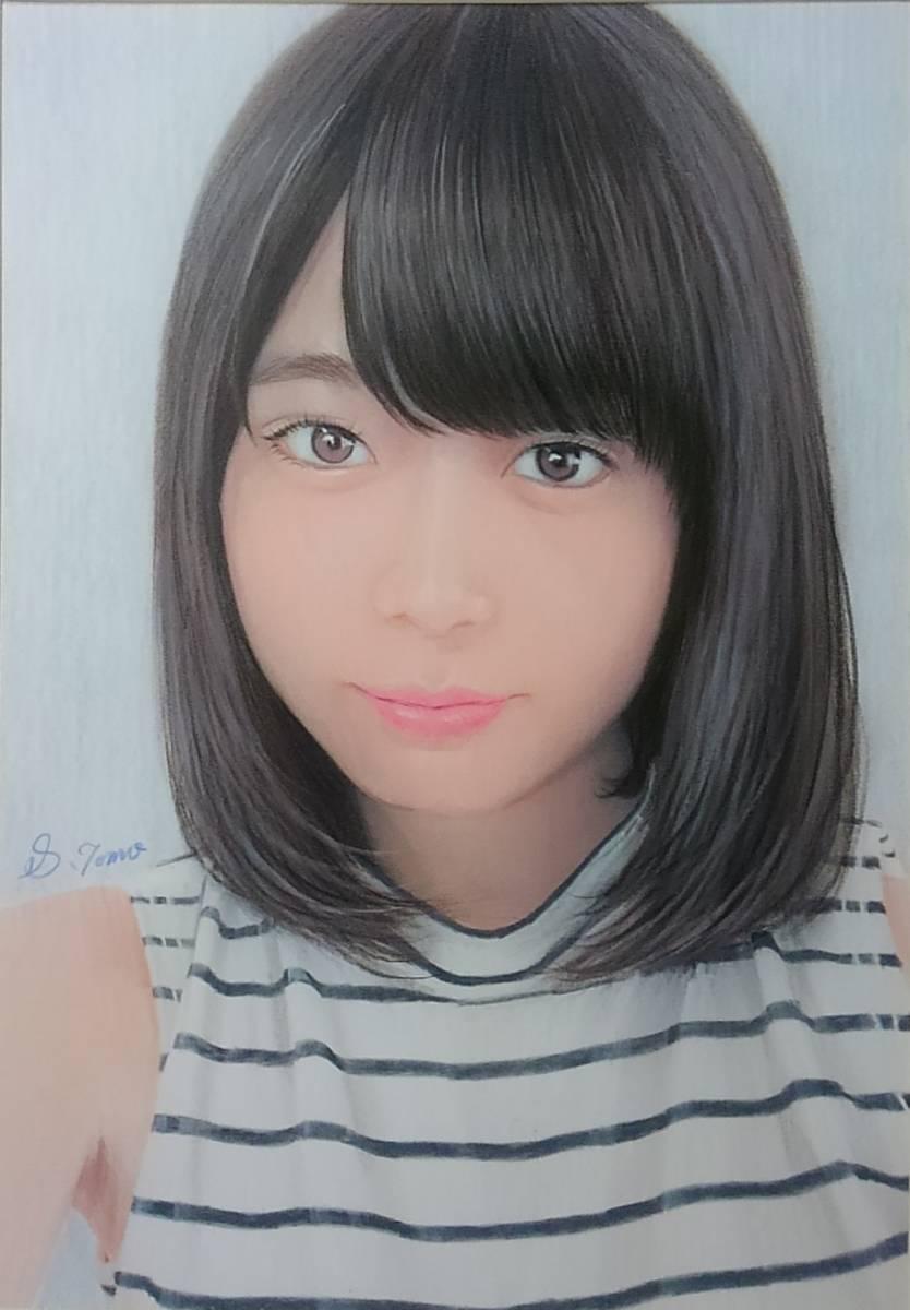 『作品774』S.Tomo氏直筆色鉛筆画 超美品 美人画 新品額装