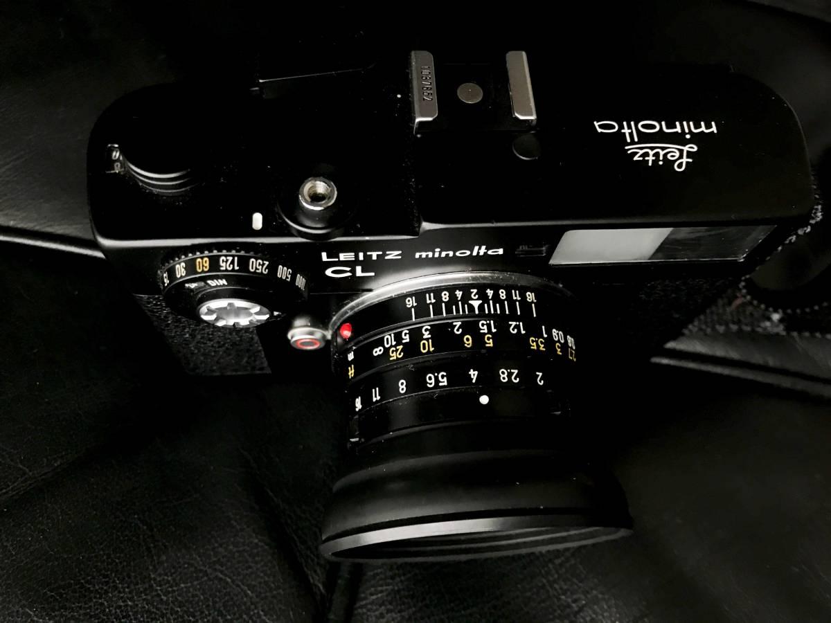 美品 LEITZ MINOLTA CL / No.1037652 M-ROKKOR 1:2 f=40mm/防湿庫保管/良品  Leica フィルター付き_画像3