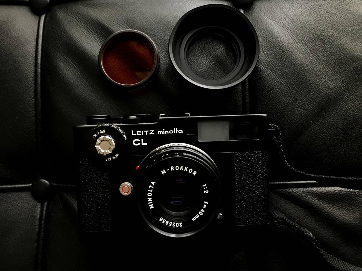 美品 LEITZ MINOLTA CL / No.1037652 M-ROKKOR 1:2 f=40mm/防湿庫保管/良品  Leica フィルター付き_画像1