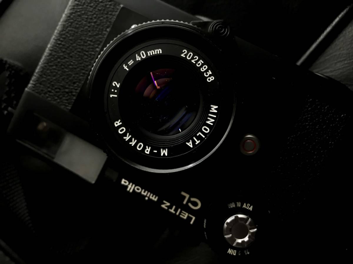 美品 LEITZ MINOLTA CL / No.1037652 M-ROKKOR 1:2 f=40mm/防湿庫保管/良品  Leica フィルター付き_画像5
