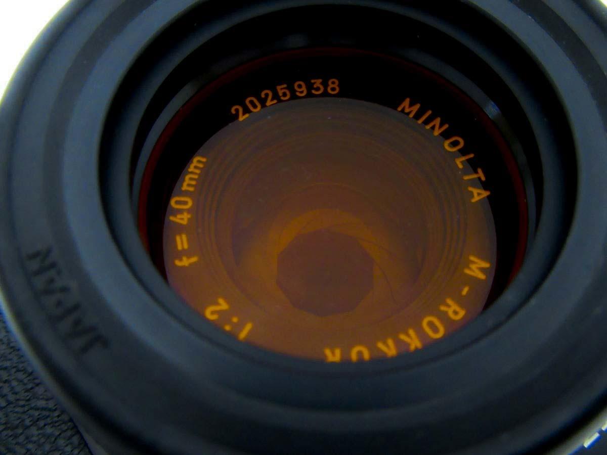 美品 LEITZ MINOLTA CL / No.1037652 M-ROKKOR 1:2 f=40mm/防湿庫保管/良品  Leica フィルター付き_画像10