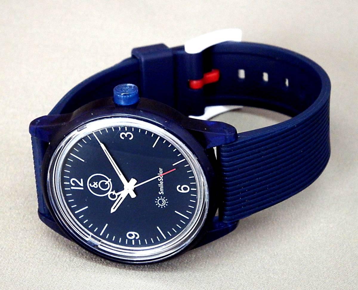 EU-9612■Q&Q SmileSolar メンズ腕時計 3針 ソーラー 丸型 中古_画像2