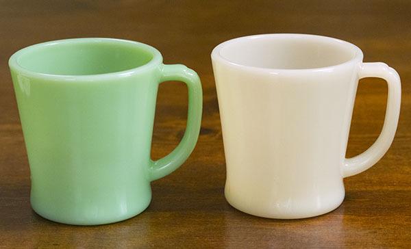 ファイヤーキング マグ ジェダイ ライトアイボリー Dハンドル 2個セット 耐熱 ミルクグラス コーヒー ビンテージ アメリカ製