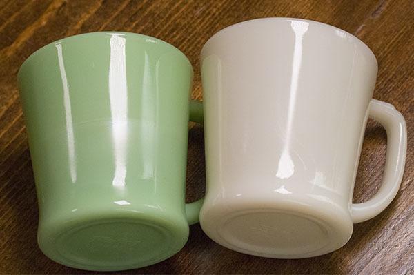 ファイヤーキング マグ ジェダイ ライトアイボリー Dハンドル 2個セット 耐熱 ミルクグラス コーヒー ビンテージ アメリカ製 _画像2