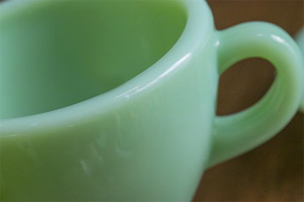 ミント! ファイヤーキング ジェダイ レストランウェア エキストラヘビー カップ&ソーサー 耐熱 ミルクグラス コーヒー ティー 紅茶_画像6