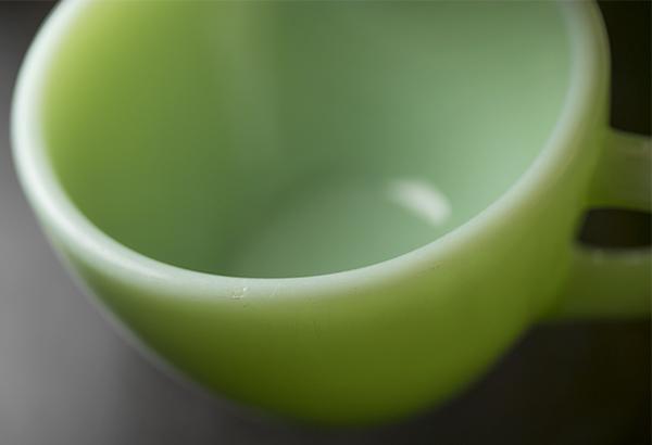 美品! ファイヤーキング ジェダイ レストランウェア ナローリム カップ&ソーサー 耐熱 ミルクグラス コーヒー 紅茶 ティー ココア_画像6