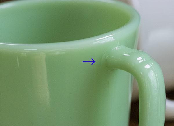 ファイヤーキング マグ ジェダイ ライトアイボリー Dハンドル 2個セット 耐熱 ミルクグラス コーヒー ビンテージ アメリカ製 _画像4
