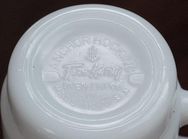 美品! ファイヤーキング マグ マクドナルド マック スタッキング 耐熱 ミルクグラス コーヒー_画像3