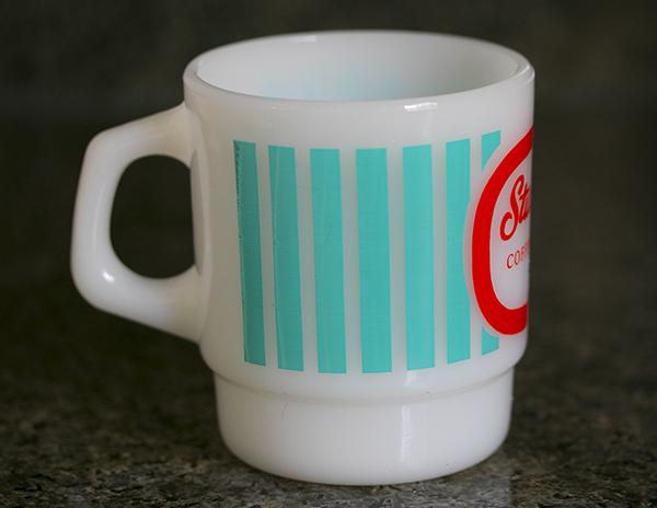 未使用! ファイヤーキング マグ スタッキーズ 耐熱 ミルクグラス コーヒー コンビニチェーン アメリカ製 ビンテージ_画像5