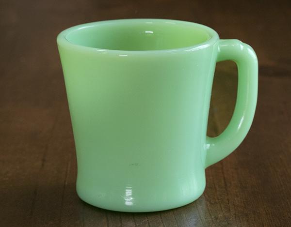 未使用! ファイヤーキング マグ ジェダイ Dハンドル 耐熱 ミルクグラス コーヒー ビンテージ キッチン 雑貨 アメリカ 紅茶 ミルク ココア
