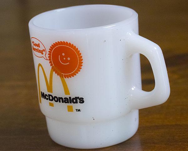 美品! ファイヤーキング マグ マクドナルド マック スタッキング 耐熱 ミルクグラス コーヒー_画像2