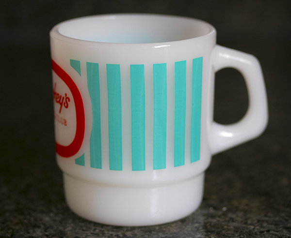未使用! ファイヤーキング マグ スタッキーズ 耐熱 ミルクグラス コーヒー コンビニチェーン アメリカ製 ビンテージ_画像4